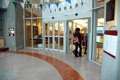 048-library entrance